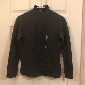 Polo Ralph Lauren zippered pullover size m (10-12)